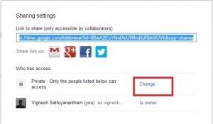 change settings of files in google drive